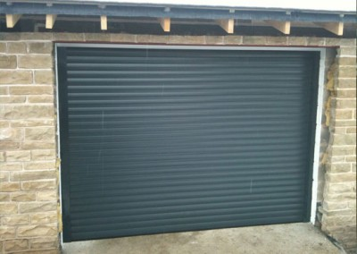 Alluguard Roller Garage Door in Gunmetal Grey