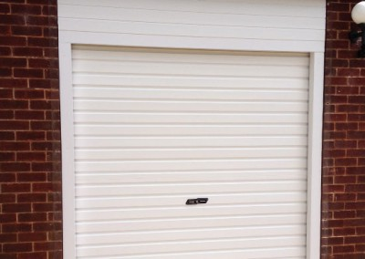 Installation of roller garage door in Scissett