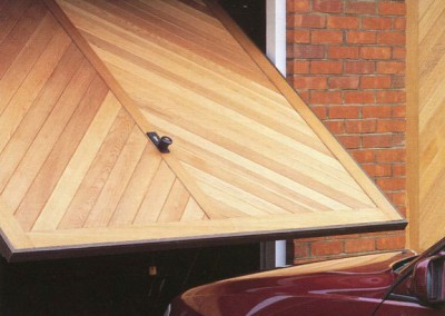 Hormann Chevron Light Oak Garage Door